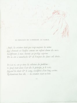 """Le sonnet de l'homme au sable"", pg. 101 , in the book Parallèlement by Paul Verlaine (Paris: Ambroise Vollard, 1900)."