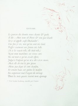 """Guitare"", pg. 103 , in the book Parallèlement by Paul Verlaine (Paris: Ambroise Vollard, 1900)."