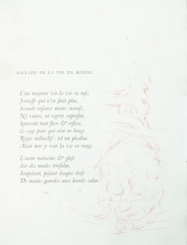 """Ballade de la vie en rouge"", pg. 105 , in the book Parallèlement by Paul Verlaine (Paris: Ambroise Vollard, 1900)."