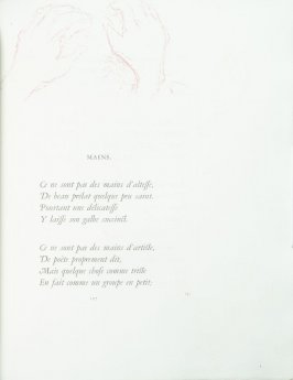 """Mains"", pg. 107 , in the book Parallèlement by Paul Verlaine (Paris: Ambroise Vollard, 1900)."