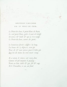 """Nouvelles variations sur le point-du-jour"", pg. 113 , in the book Parallèlement by Paul Verlaine (Paris: Ambroise Vollard, 1900)."