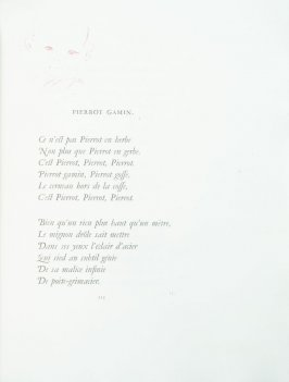"""Pierrot Gamin"", pg. 115 , in the book Parallèlement by Paul Verlaine (Paris: Ambroise Vollard, 1900)."