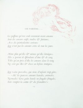 """Les passions....."", pg. 119 , in the book Parallèlement by Paul Verlaine (Paris: Ambroise Vollard, 1900)."