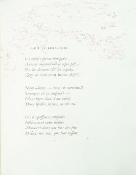 """Lœti et errabundi"", pg. 123 , in the book Parallèlement by Paul Verlaine (Paris: Ambroise Vollard, 1900)."