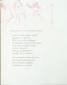 """Ballade de la mauvaise réputation"", pg. 131 , in the book Parallèlement by Paul Verlaine (Paris: Ambroise Vollard, 1900)."
