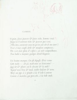"""Caprice"", pg. 133 , in the book Parallèlement by Paul Verlaine (Paris: Ambroise Vollard, 1900)."