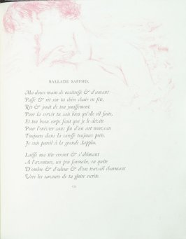 """Ballade Sappho"", pg. 135 , in the book Parallèlement by Paul Verlaine (Paris: Ambroise Vollard, 1900)."
