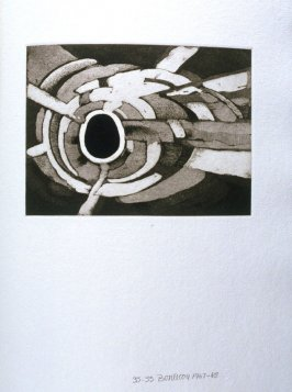 Untitled Abstract Illustration #3 in the book Fifth Stone, Sixth Stone (Long Island, NY: Universal Limited Art Editions, 1968)