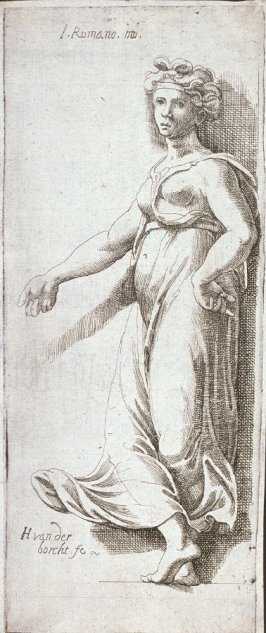 Five Emblematic Prints: (5) Figure of woman