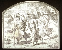 Lot With His Wife and Daughters Leaving Sodom
