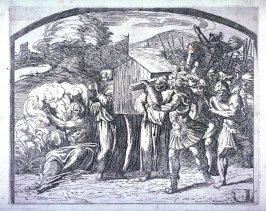 The Ark of the Covenant Carried Across Jordan, after the frescoes by Raphael for the Vatican Loggia