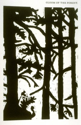 Gloom of the Forest, on page 29 of the book Captivity Narrative of Hannah Duston by Cotton Mather, John Greenleaf Whittier, Nathaniel Hawthorne, and Henry David Thoreau (San Franc isco: Arion Press, 1987)
