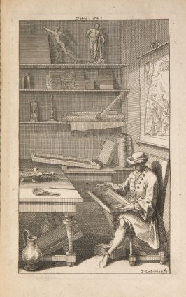 (Gentleman Examining Print) , eleventh plate opposite page 30 in the book Traité de manières de graver …by Abraham Bosse (Paris: Pierre Auboüin and Charles Clousier, 1701)