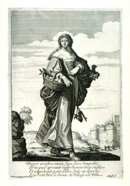 The Shepherdess, from Sheperds and Shepherdesses (set of 4)