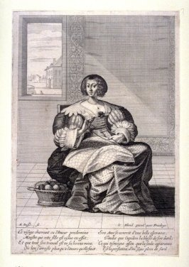 A Woman Embroidering