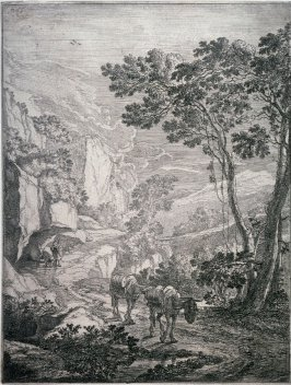 The Two mules; From : The set of the Upright Italian landscapes