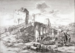 Ponte Molle, from the series Landscapes of the Environs of Rome