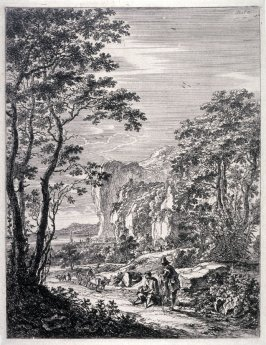 The Ox-cart; From : The set of the Upright Italian landscapes