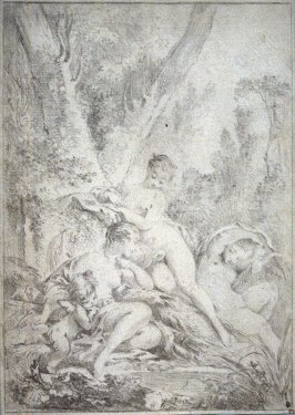 Diana, Cupid and Two Nymphs