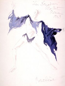 """Costume sketch for a Male Figure #2 in """"Les Dryades"""""""