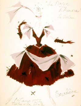 "Aurora's Wedding: costume sketch for female character in ""The Waltz"""