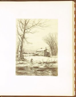 Winter, accompanied by verses by T. Buchanan Read, ninth plate in the book Autograph Etchings by American Artists (New York: W. A. Townsend & Company, 1859)