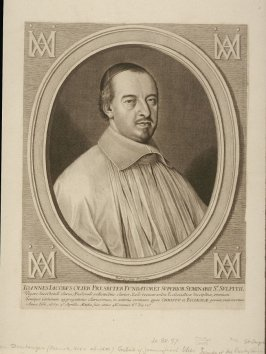 Portrait of Johannes Jacobus Olier, Presbiterian, Founder of the Seminar of Sti. Sulpitii (died 1657)