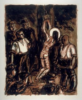 Untitled (Flagellation) on unnumbered page 13, second plate in the portfolio La passion selon Saint-Jean (Paris: Editions Stock Delamain et Boutelleau, 1944)