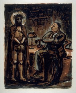 Untitled Christ before Pilate) on unnumbered page 25, f ifth plate in the portfolio La passion selon Saint-Jean (Paris: Editions Stock Delamain et Boutelleau, 1944)