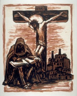 Untitled (Christ Dying on the Cross) on unnumbered page 45, tenth plate in the portfolio La passion selon Saint-Jean (Paris: Editions Stock Delamain et Boutelleau, 1944)