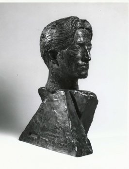 Portrait bust of Krishnamurti