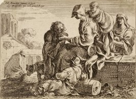 [The Holy Family resting among the ruins on the flight to Egypt]