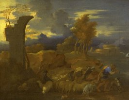 Landscape with Shepherd Leading His Flock