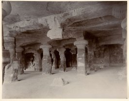 Pillars in the Monlithic Temple at Elephanta, Near Bombay
