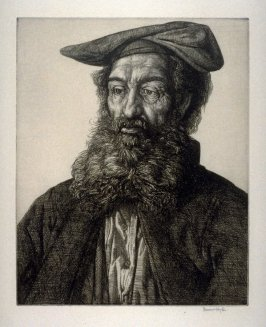 Portrait of a man with cap (bust)