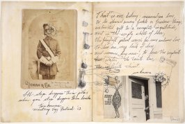 New Direction, pages from the artist's diary