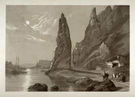 Plate 18: Roche Bayard on the Meuse, from 'Sketches on the Moselle, the Rhine & the Meuse' (London, Hodgson & Graves, 1838)
