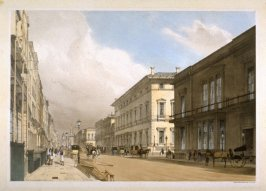 'Plate 12: The Club Houses and Pall Mall from the series 'Original Views of London As It Is'