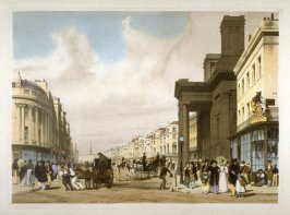 Plate 17: Regent Street, Looking towards the Quadrant from the series 'Original Views of London As It Is'