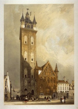 Plate 3: Belfry, Ghent from the series 'Picturesque Architecture in Paris, Ghent, Antwerp, Rouen &c Drawn from Nature & on Stone'