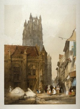 Plate 7: St. Laurent, Rouen from the series 'Picturesque Architecture in Paris, Ghent, Antwerp, Rouen &c Drawn from Nature & on Stone'
