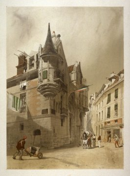 Plate 14: Hotel de Sens, Paris from the series 'Picturesque Architecture in Paris, Ghent, Antwerp, Rouen &c Drawn from Nature & on Stone'