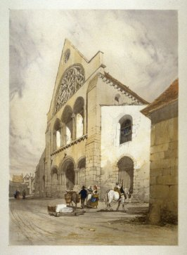 Plate 26: St. Andre, Chartres from the series 'Picturesque Architecture in Paris, Ghent, Antwerp, Rouen &c Drawn from Nature & on Stone'