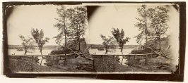 "Fort Darling, James River, Va. with Confederate ""RAM"" sunk to block river"