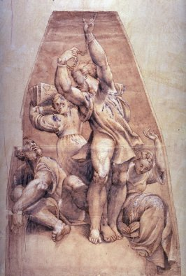Allegorical Figures, after the frescos by Il Pordenone in the dome of Santa Maria di Campagna, Piacenza