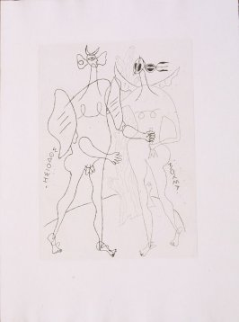 Untitled, pg. 5, in the book Theogonie (Theogony) by Hesiode (Paris: Adrien Maeght, 1955).