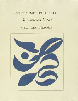 Untitled, title page, in the book Si je mourais Là-Bas by Guillaume Apollinaire (Paris: Louis Broder, 1962).