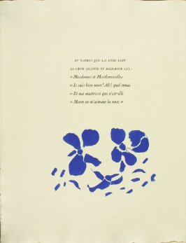Untitled, pg. 44, in the book Si je mourais Là-Bas by Guillaume Apollinaire (Paris: Louis Broder, 1962).