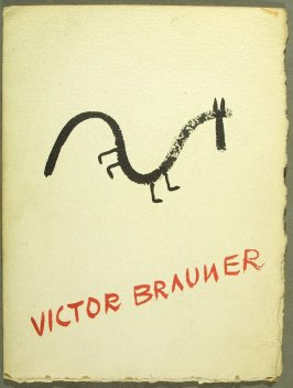 Cover, for the folder holding the leaflet Progression Mythologique de Victor by Victor Brauner (Paris: Galerie René Drouin, 1948)