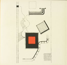 Untitled, Plate XVIII, pg. 217, in the book Staatliches Bauhaus Weimar, 1919 - 1923 by Walter Gropius (Munich: Bauhausverlag, 1923)